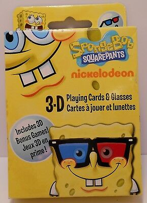 Card Game 3D SPONGEBOB Playing Cards with 2 Pair of 3D Glasses and Bonus Games