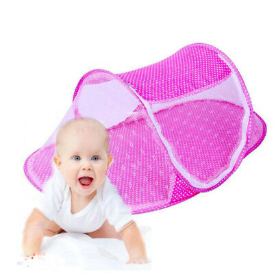 Baby summer Mesh Tent Foldable Mosquito Net Yurt Toddler Canopy Play Tent Blue