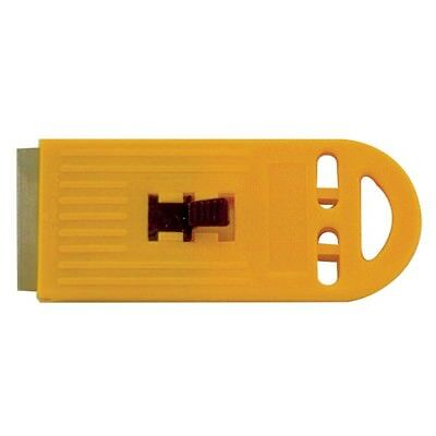 Plastic Scaper Blade Retractable Yellow Carded DIY Handyman Painting Craft