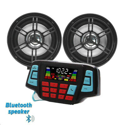 3' UTV/ATV/Snowmobile/Marine Amplified Speaker System Bluetooth US STOCK