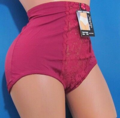 B3 Red Blue Embroidered floral High Cut Floral Cotton Sissy Girdle Panties M