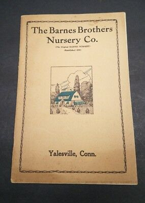 1920s GARDEN Catalog-FRUIT TREES Barnes Brothers Nursery Yalesville CT Original