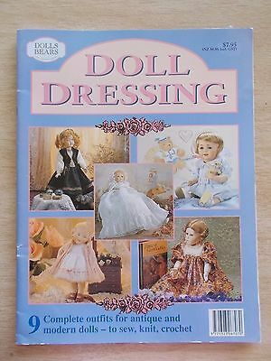 Doll Dressing~9 Outfits to Sew~Knit~Crochet~Patterns~1996