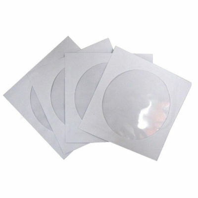 20~200x CD DVD Paper Flap Sleeves Clear Window Case Cover Envelope 12.5cm*12.5cm