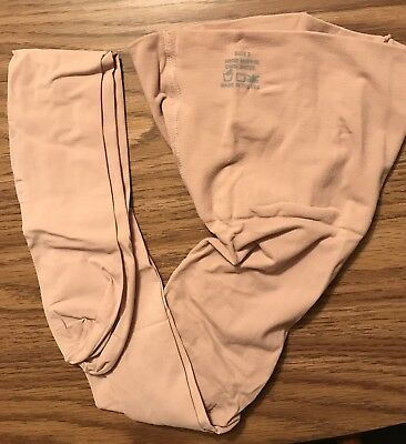 S MATERNITY TIGHTS Light Support PREGGERS Therafirm 10-15mmHg OPAQUE NUDE new