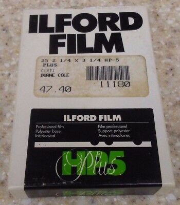 ILFORD HP5 Plus Professional 400 2.25x3.25 Film Unopened Box of 25 Exp 5,7x8,3cm