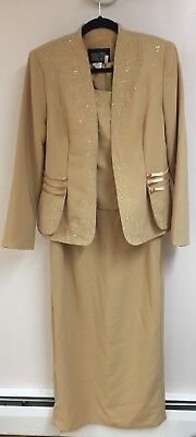 Marsoni Mother of the Bride Dress Cream Size 10 with Jacket