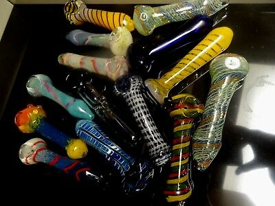 """Wholesale Lot of 3/ $22 Top Shelf  6"""" Jumbo Hand Glass Pipes For Retail GPH7 & 8"""