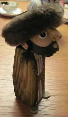 Frank Meisler FM Israel Hasidic Wood Figure Sculpture Signed Wizo Home Industrie