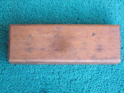 Vintage Oil Stone Sharpening Stone In Wooden Box