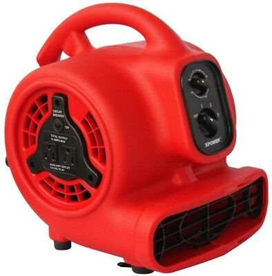 Air Mover Mini 600 CFM 1/8 HP Motor Blower Fan with Daisy Chain and 3 Hour Timer