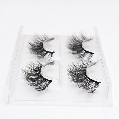 2Pairs Faux Mink Natural False Eyelashes Volume Long Eye Lashes Extension Makeup