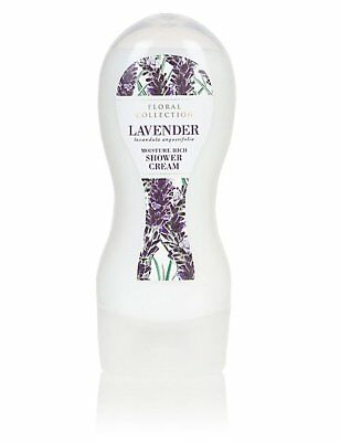 marks and spencer floral collection lavender moisture rich shower cream 250ml (l