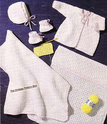 EASY BABY LAYETTE - birth to 6 months / 3ply- COPY baby crochet pattern