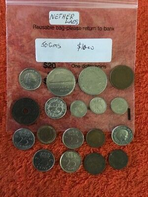 Coins From The Netherlands 18 Mixed Nice,
