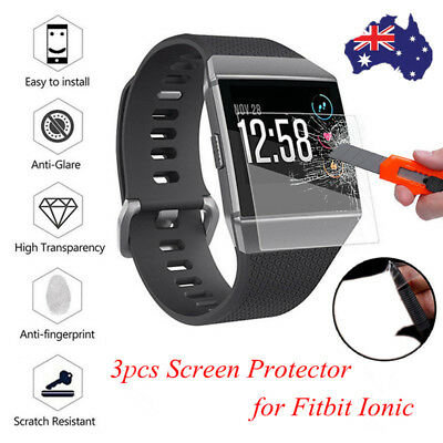 3 Explosionproof Waterproof Screen Protector/Case Cover Film For Fitbit Ionic AU