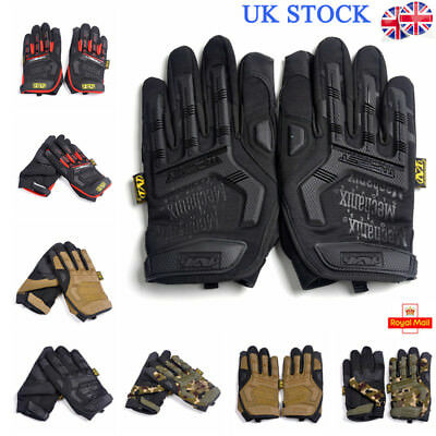 UK Mens Tactical Bike Military Army Full Fingers Gloves Paintball Sports Outdoor