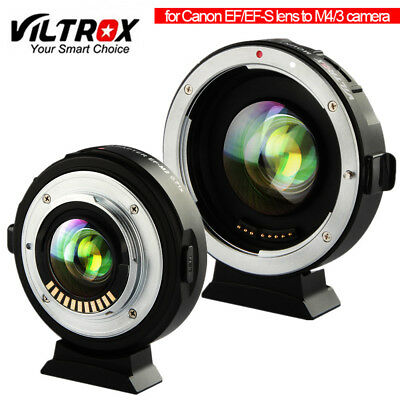 VILTROX EF-M2 auto focus adapter 0.71x aperture for Canon EF lens to M4/3 camera