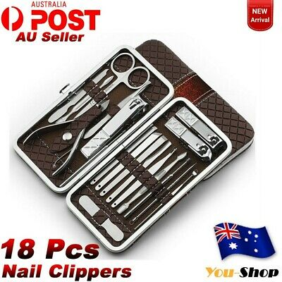 Nail Clippers Kit  18Pcs Manicure Pedicure Set Stainless Cuticle Grooming Beauty