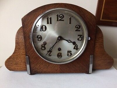 A Haller Art Deco Westminster  Quarter  Chiming Mantel Clock Working Order