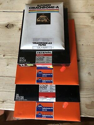 5 Boxes Of Vintage Colour Photo Paper - Ilford, Tetenal & Agfa  - Unused