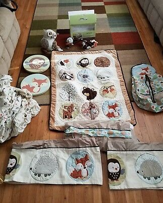 Carter's FOREST FRIENDS Bedding lot HUGE FREE SHIPPING!