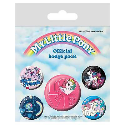 My Little Pony Badge Pack Retro Character Mixed Designs Official New 5x Button