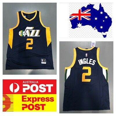 Utah Jazz Aussie Player Joe Ingles Jersey Blue Color
