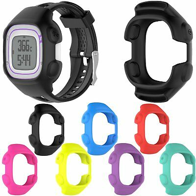Silicone Shell Frame Cover Case Skin for Garmin Forerunner 10/15 GPS Sport Watch