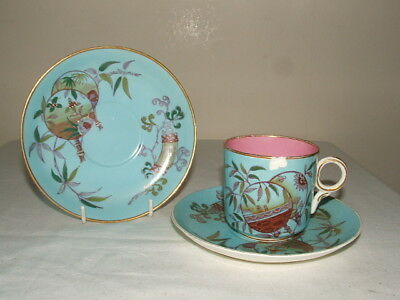Mintons Chinoiserie Aesthetic Dresser? Tea Cup & 2 Saucer As Found