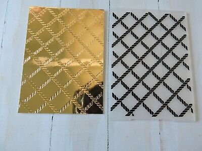 Embossing folder rope design