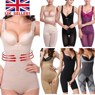 Lady Full Body Shaper Slimming Lingerie Tummy Control Bodysuit Shapewear S-3XL