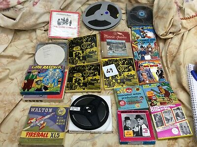 Vintage retro standard 8 films. Mixed variety. 17 x reels. Lot 49