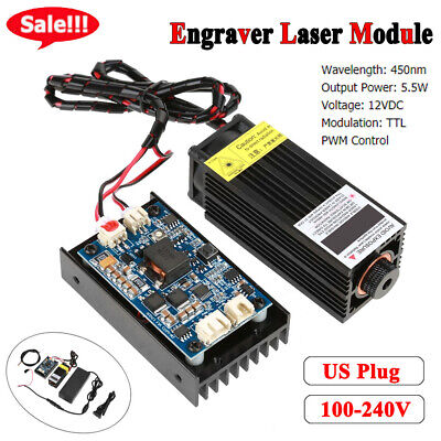 Focusable High Power 450nm Blue Laser Module with TTL 15W Wood Engraving