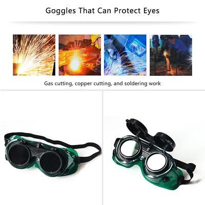 Welding Cutting Welders Safety Goggles Glasses Flip Up Dark Double-Lens - Green