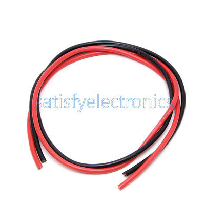 Black Red NEW 16 AWG Gauge Wire Flexible Silicone Stranded Copper Cables For RC