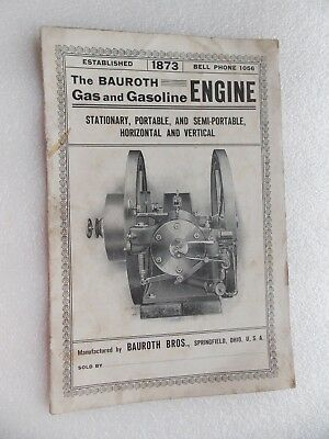 The Bauroth Gas & Gasoline Engine Brochure from Springfield Ohio