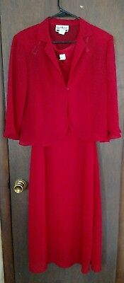 Shari Martin 10 Red Mother of Bride Event Dress