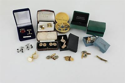 Vintage 14 x Gents Jewellery inc Rolled Gold Cuff-links , Sterling Silver 282g