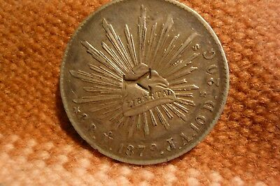 1879 Mexico 8 Reales Ho /J.A. (Stamped with a large Y)