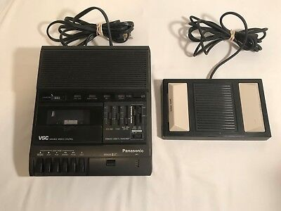 Panasonic VSC RR-830  Cassette Tape Dictation Transcriber & Foot Pedal RP-2692