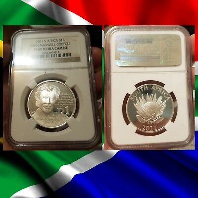 2011 South Africa Silver Rand  PF69 UC NGC COETZEE PROOF ULTRA CAMEO R1 1R S1R