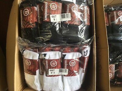 10 Pairs Of Warrior Football Socks Black or White Job Lot - Total RRP £39.99