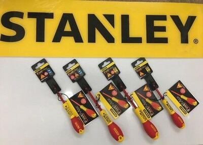 Stanley FatMax VDE Insulated Phillips, Pozi and Slot Screwdriver Set of 5