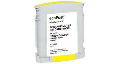 Clover Remanufactured Postage Meter Yellow Ink Cartridge for Pitney Bowes 787 F