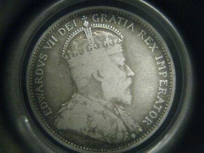@-@ Another 1910 Canadian Quarter From Estate Sale Twenty Five Cents @-@