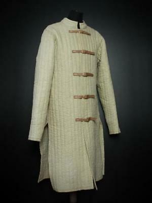 Gambeson medieval Amazing ulfberth witcher Cream color jacket full sleeves