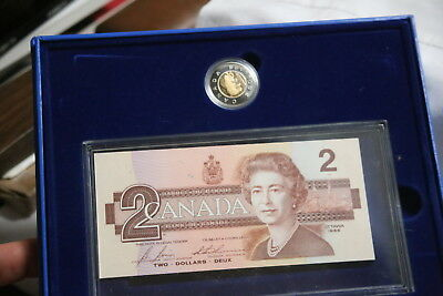 Canada Mint 1996 $2 Dollar Coin &  1986 Bank Note Set uncirculated, mint, Toonie