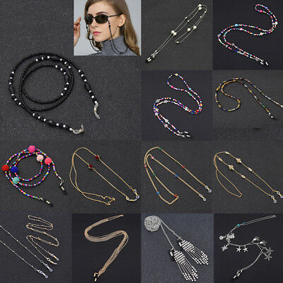 Metal Strap Bead Chain Glasses Spectacles Sunglasses Glasses Holder For Reading