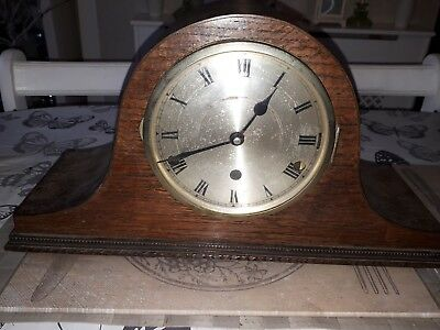 post 1920's NAPOLEON HAT MANTLE CLOCK ( CHIMES )